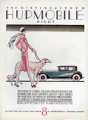 Hupmobile  1926 1920s Usa Cc Cars Dogs Poster