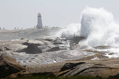 Hurricane Irene At Peggy's Cove Nova Scotia Canada Poster