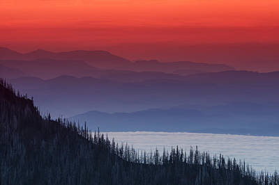 Hurricane Ridge Sunset Poster