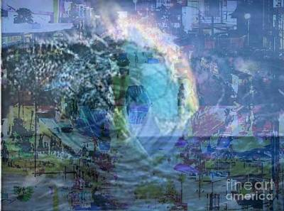 Hurricane Sandy Poster by PainterArtist FIN