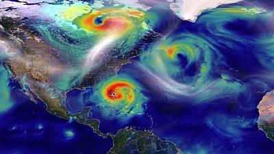 Hurricane Sandy Simulation Poster by Nasa/goddard (william Putman)