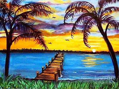 Poster featuring the painting Hurry Sundown by Ecinja Art Works