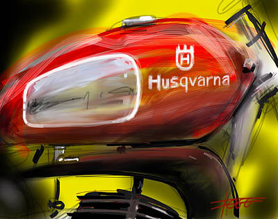 Husqvarna Poster by Peter Fogg