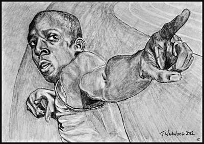 Usain Bolt Poster by Tricia Winwood