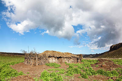 Huts Of Local Oromo Nomads At Keyrensa Poster