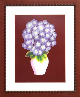 Poster featuring the painting Hydrangea by Ron Davidson