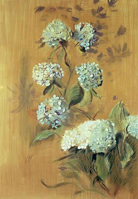 Hydrangeas Poster by Paul Cesar Helleu