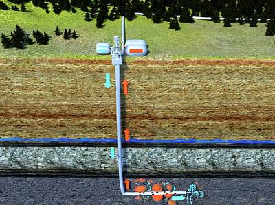 Hydraulic Fracturing Poster by Juan Gaertner