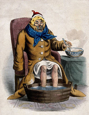 Hydrotherapy, Cure Of Common Cold, 1833 Poster