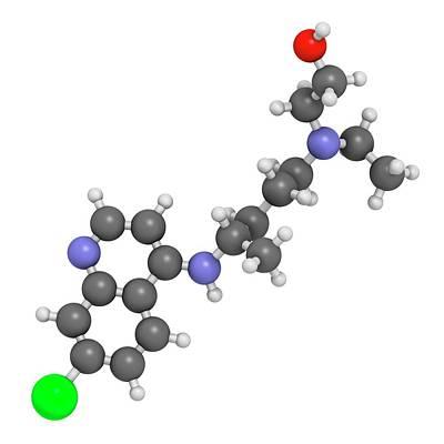 Hydroxychloroquine Malaria Drug Molecule Poster by Molekuul