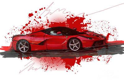 Hyper Car Poster by Roger Lighterness