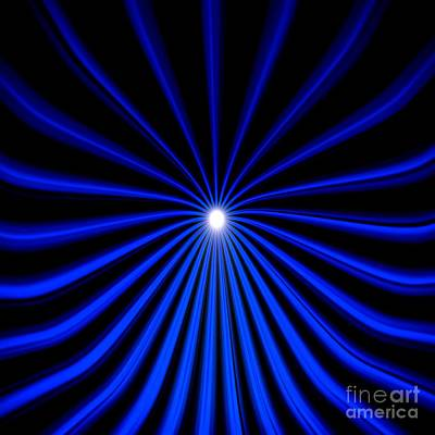 Hyperspace Blue Square Poster by Pet Serrano