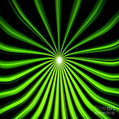 Hyperspace Electric Green Square Poster by Pet Serrano