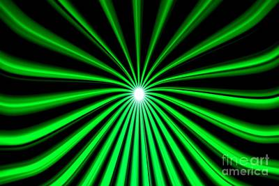 Hyperspace Green Landscape Poster