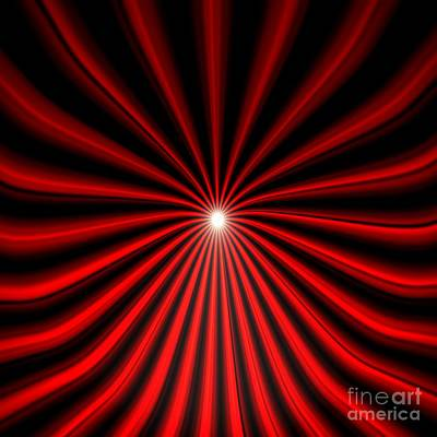 Hyperspace Red Square Poster