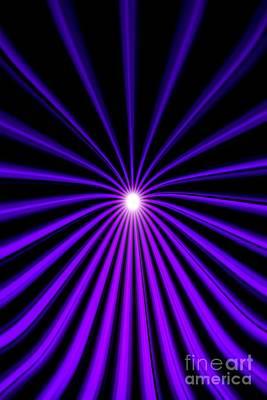 Hyperspace Violet Portrait Poster by Pet Serrano