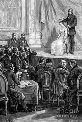 Hypnosis Demonstration, 19th Century Poster by Spl