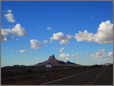 I-10 At Picacho Peak Poster by Rick Lloyd