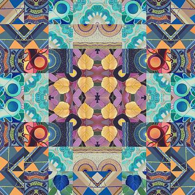 I Believe - A T J O D Mandala Series Puzzle 5-2 Variation Poster