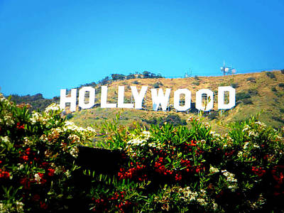 I Can See Hollywood From My House Poster by Zoltan Spitzer