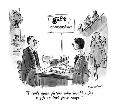 I Can't Quite Picture Who Would Enjoy A Gift Poster by James Stevenson