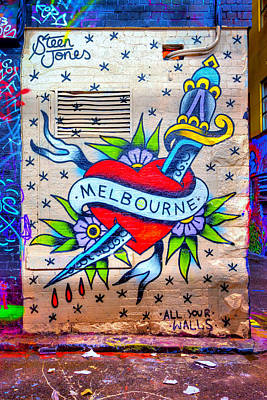 I Heart Melbourne Poster by Paradigm Blue