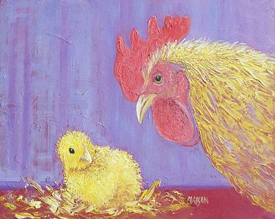 I Just Want Whats Best For My Chicken Poster by Jan Matson