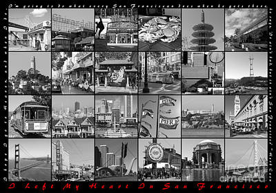 I Left My Heart In San Francisco 20150103 Horizontal With Text Bw Poster