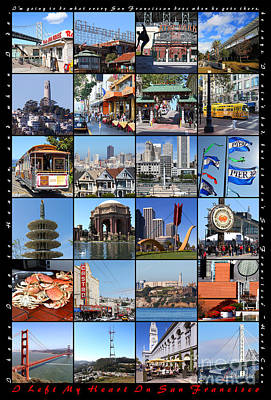 I Left My Heart In San Francisco 20150103 Vertical With Text Poster by Wingsdomain Art and Photography