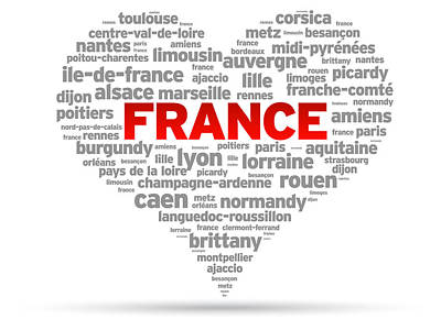 I Love France Poster by Aged Pixel