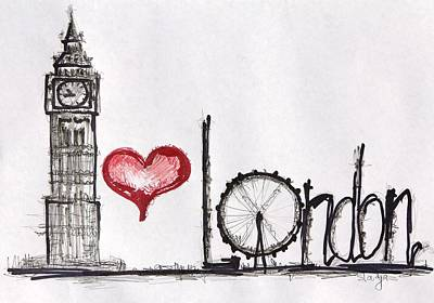 I Love London Poster by Sladjana Lazarevic