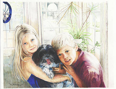 Poster featuring the painting I Love My Dog by Patricia Schneider Mitchell