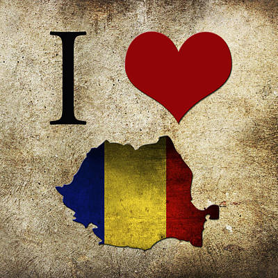 I Love Rumania Poster by Gina Dsgn