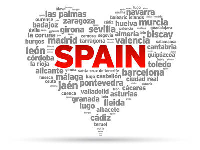 I Love Spain Poster by Aged Pixel