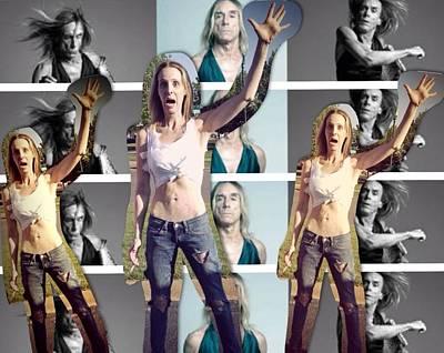 I Love U Iggy Pop Poster by Lisa Piper