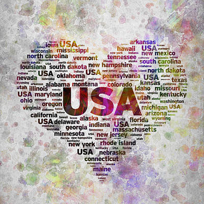 I Love Usa In Color Poster