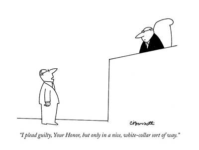 I Plead Guilty Poster by Charles Barsotti