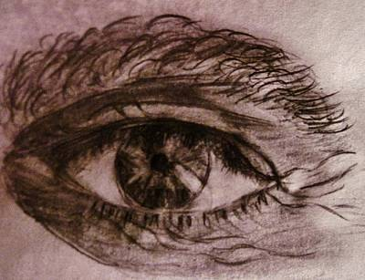 Poster featuring the drawing I See You... by Cristina Mihailescu
