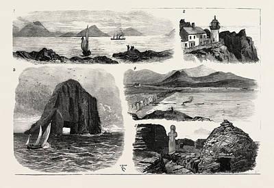 I. The Faraday Entering Ballinskelligs Bay 2 Poster by Irish School