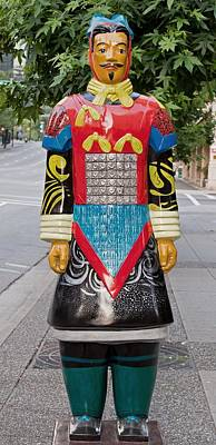 I Through The Space Of Time - Terracotta Warrior Poster by David Oberman