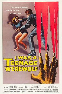 I Was A Teenage Werewolf Poster by MMG Archives