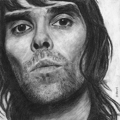 Ian Brown Pencil Drawing Poster
