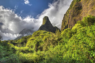 Iao Valley Needle Maui Hawaii Poster by Pierre Leclerc Photography