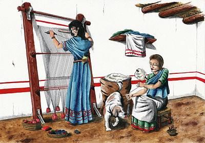 Iberian Wool Loom Poster