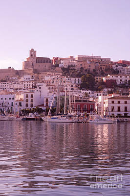 Ibiza Old Town In Early Morning Light Poster by Rosemary Calvert