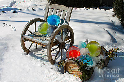 Poster featuring the photograph Ice Ball Art by Nina Silver