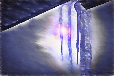 Ice - Break In The Storm Poster by Steve Ohlsen