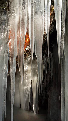 Ice Cave Poster by Michele Cornelius