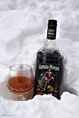Ice Cold Captain Morgan Poster by Guna  Andersone