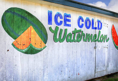Ice Cold Watermelon Poster by David and Carol Kelly